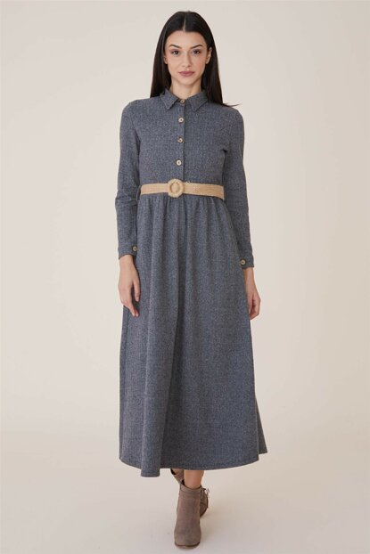 Women's Gray Dress Nassah-MPU-9W5863