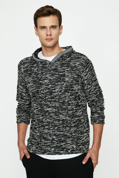 Men's Black Pullover 9KAM91394HK