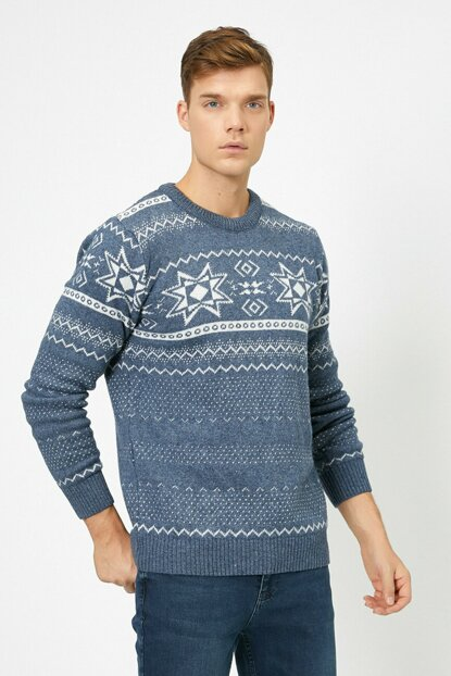 Men's Blue Sweater 0KAM91848DT