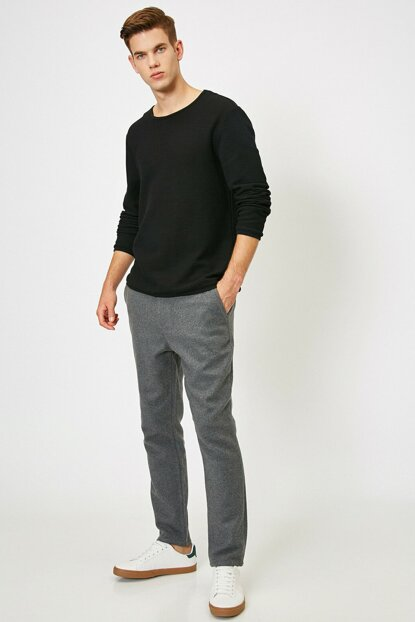 Men's Gray Trousers 0KAM41083BW