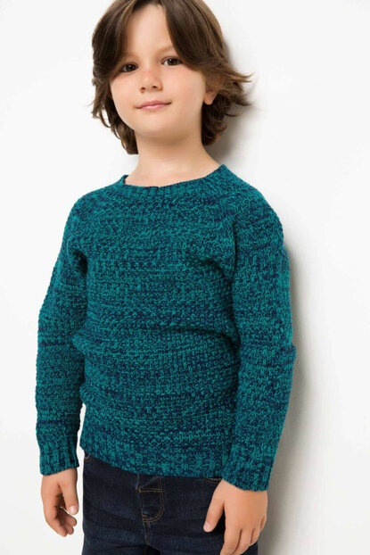 Turquoise Sweater Pullover H4579A4.Tr262 H4579A4.TR262