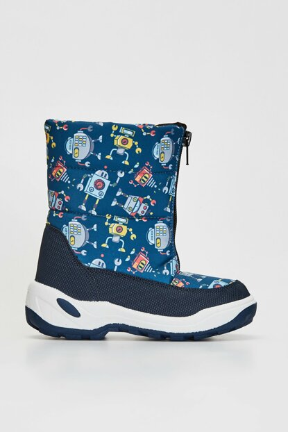 Boys' Navy Blue Crp Boots 9WP326Z4