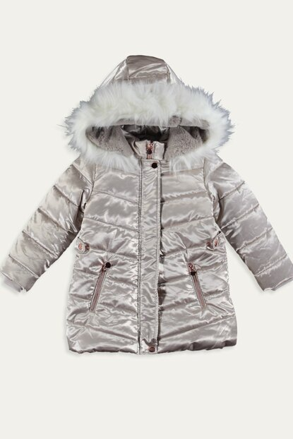 Girl's Children's Ecru DBD Coat 9W6270Z4