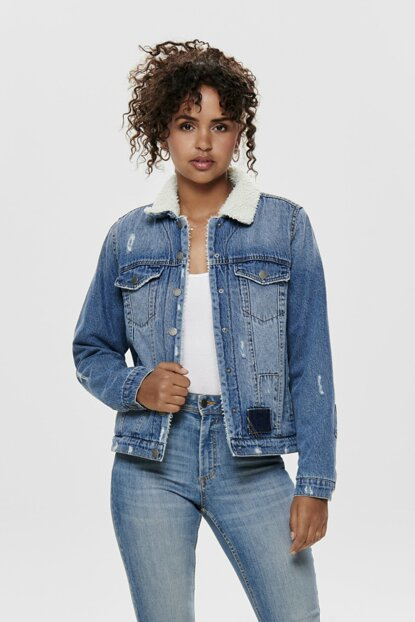 Denim Jacket with Faux Wool 15184024 ONLMOTT