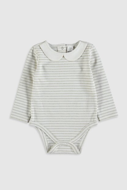 Baby Girl Light Yellow Striped Ljz Snaps Body 2PCS 9WK519Z1