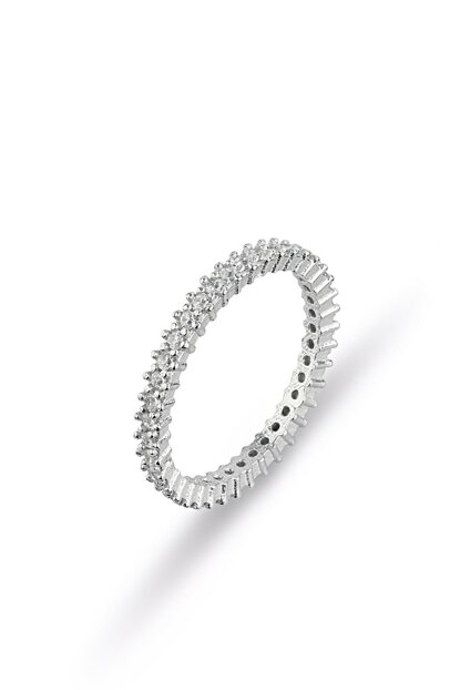Single Row Full Ring Women Rhodium MYS0081