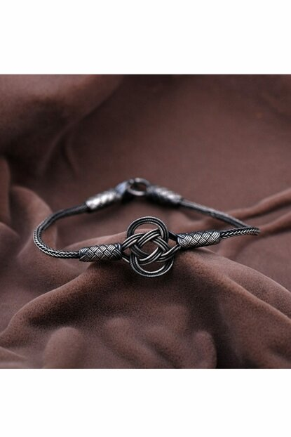 Casual Hand Wrapped Oxidized Silver Bracelet 2089 344511