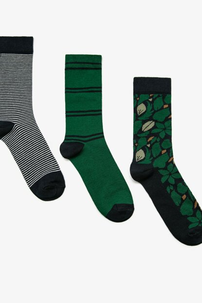 Men's Black 3-Piece Socks 0KAM82108AA