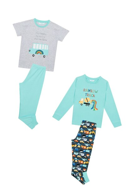 Boys' Multicolor Rainbow Track 4 Pajamas Set PNLHUAQH19SK-MIX