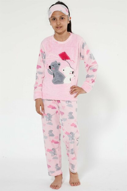 Girls Pink Well Soft Pajamas Set 4523
