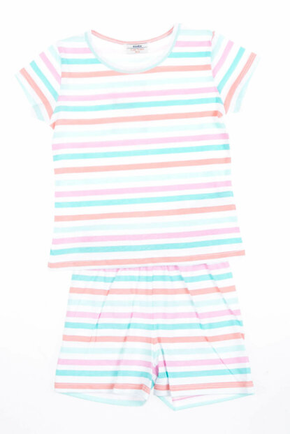 Girls Pajamas Set of Salmon (3-12 years) SBEKCPJMS11557_13-1021