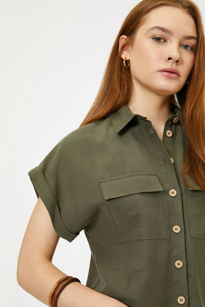 Women's Green Pocket Shirt 0KAK68651PW