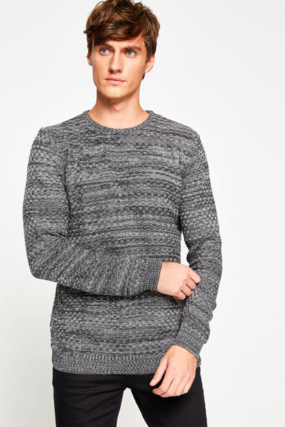 Men's Anthracite Sweater 8KAM91255NT