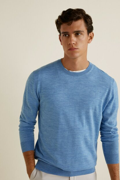 Men's Blue Sweater 33033748
