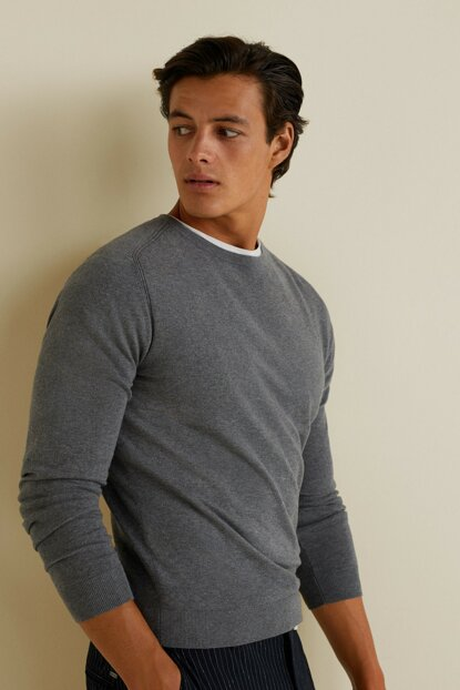 Men's Light Ground Gray Sweater 33040526