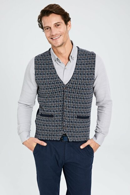 Men's Light Blue Vest 9WO291Z8