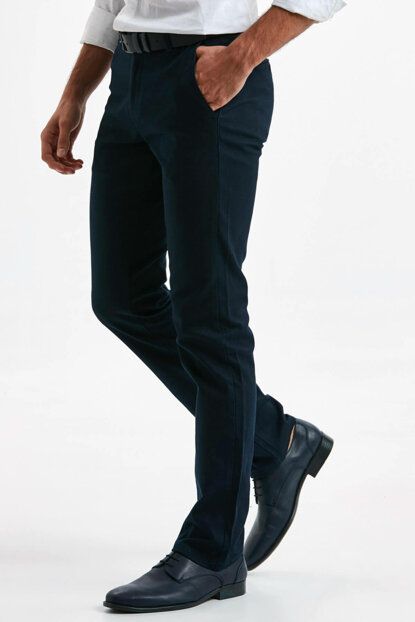 Men's Navy Blue Trousers 9S1561Z8