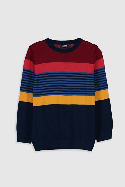 Boy Red Striped Lje Sweater 9WR892Z4