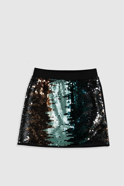 Girls' New Black Cvl Skirt 9WS404Z4