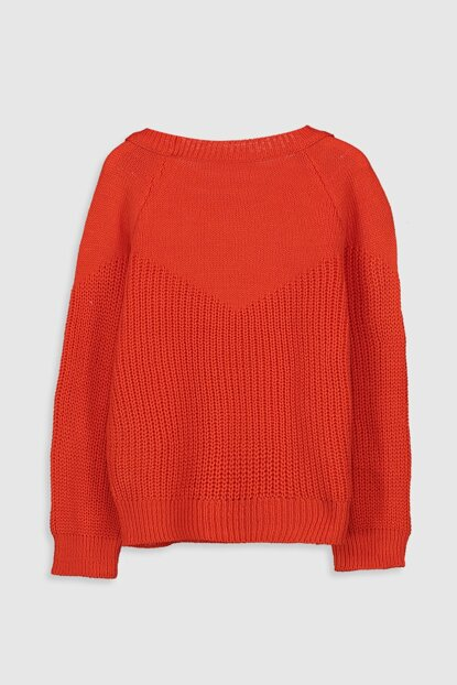 Girl's Orange Csx Sweater 9WP531Z4
