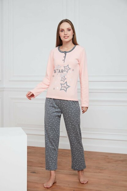 Women's Powder Cotton Interlock Pajama Set A1383