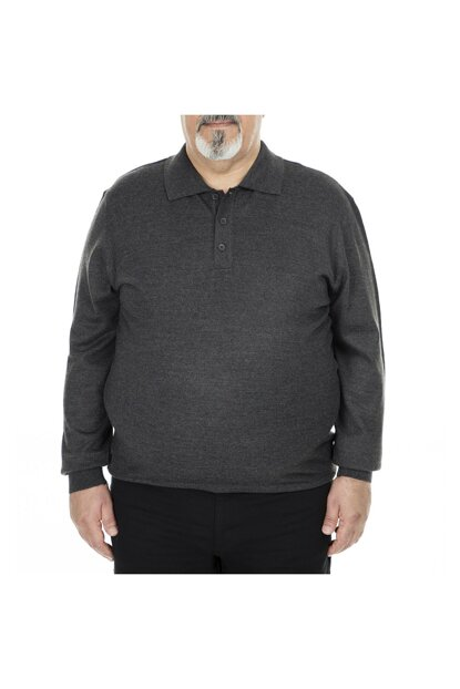Plus Size Polo Pullover MEN SWEATER 518DUZPYB