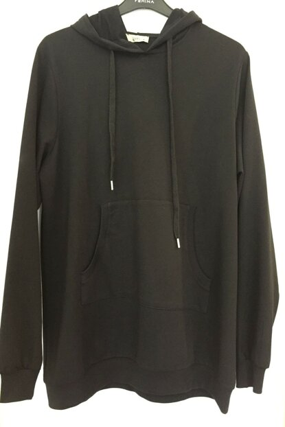 Women's Black Hooded Sweatshirt 111013100001