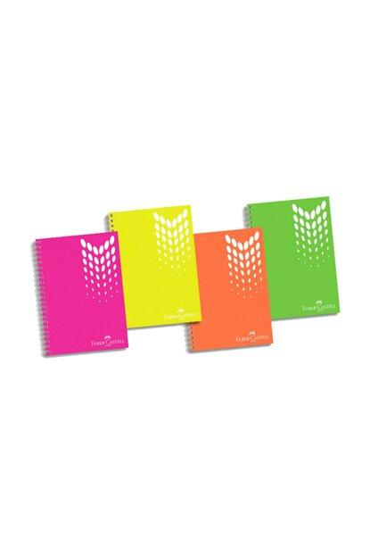 Faber-Castell PP Cover Seperator with 4 Sections Krsk.Defter, 100 Sheets 8690826993666