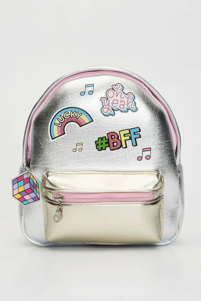 Girl Children Silver Gray F9Q Backpack 9WK315Z4
