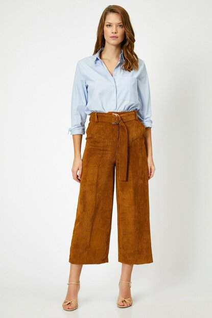 Women's Coffee Velvet Pants 0KAK42846UW