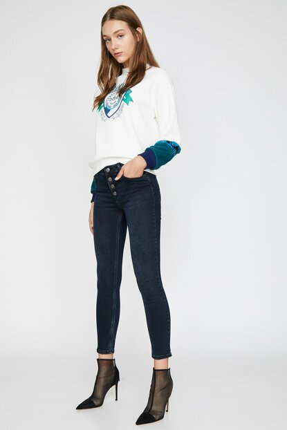 Women's Dark Indigo Jean 0KAK47584MD