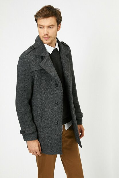 Men's Gray Coats 0KAM01017HW