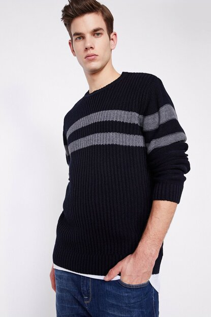 Men's Navy Blue Pullover 9KAM91376LT