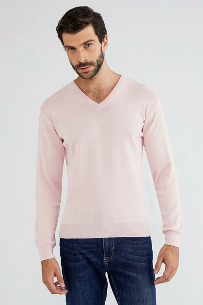 Men's Pink Sweater - 49271