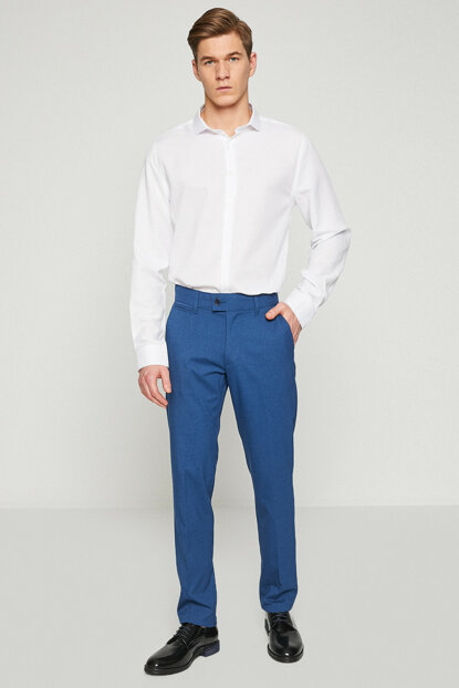 Men's Blue Narrow Trousers 8YAM41687HW