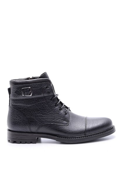 Genuine Leather Men Black Boots 19WFD3167FT