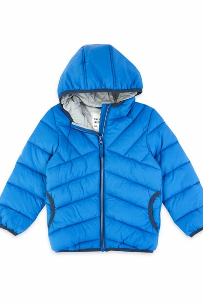 Blue Boy Filled Coat T88002415Y