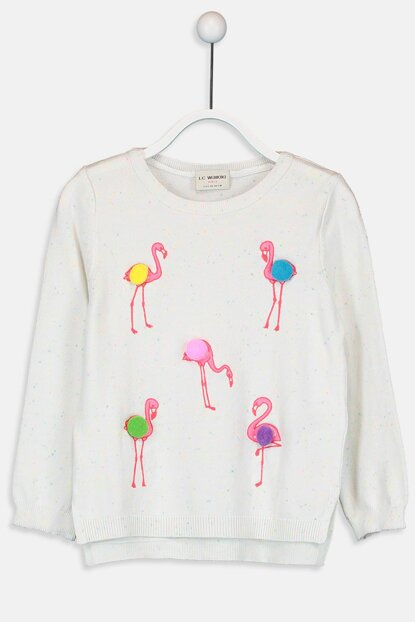 Girl's Ecru Sweater 9W5013Z4