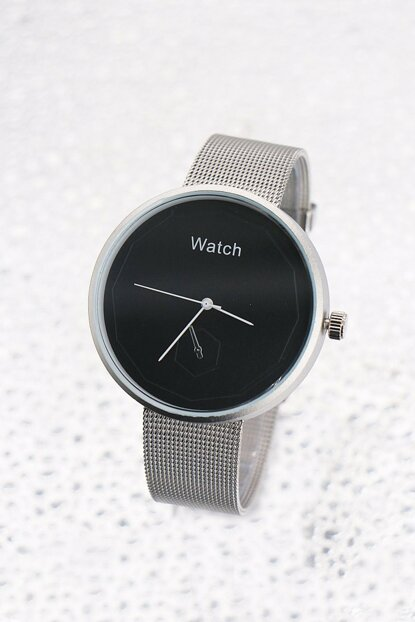 Silver Color Women Watch with Straw Bracelet 8699000097312
