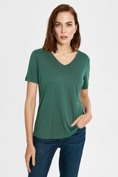 Women's Green T-shirt 0S4910Z8