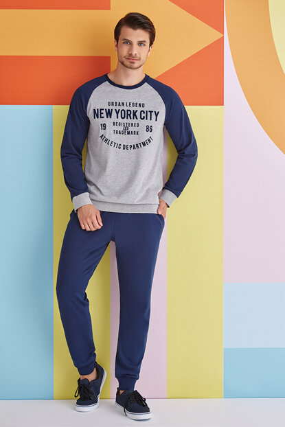 Men's Tracksuit Pajamas Set 1328 RP1328SGRI