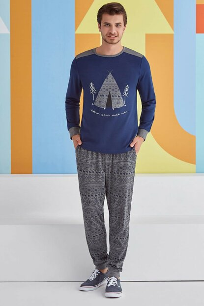 Men's Pajamas Set Long Sleeve 1326 RP1326SLACI