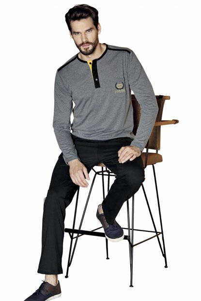 Men's Long Sleeve Pajamas Set for Men New Season 5368 P65224S1547