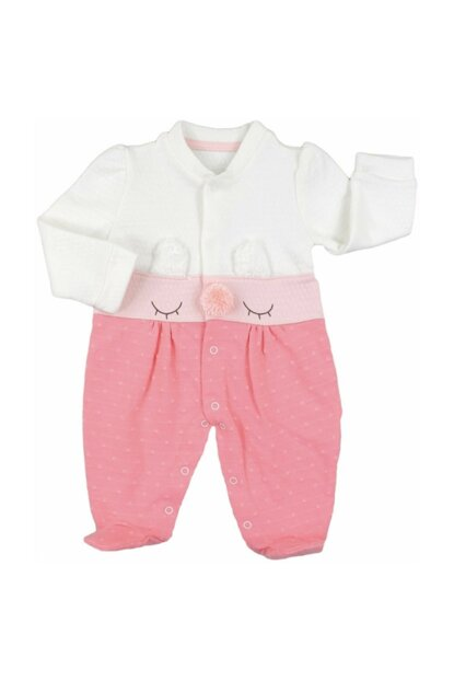 SALMON Baby girl 0-6 months mother teddy bear booties girl jumpsuit 2434