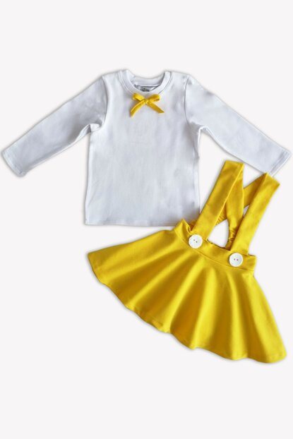 Yellow Straped Skirt Long Sleeve Body Suit / 9-12 MONTH TKM-0019