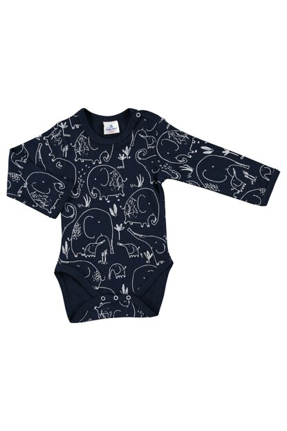 Winter Baby Boy Mom Elephant Printed Long Sleeve Body 19KLUGEBDY012