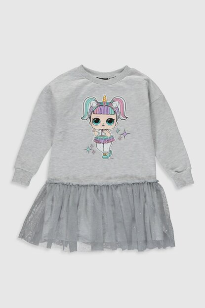 Girl Kids GRAY MELANGE CT3 Dress 9WR746Z4