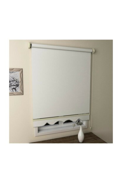 White Roller Blinds Curtain Skirt 220x260 EVRMTRND00225