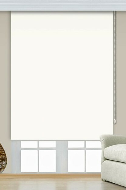 260x200 Broken White Imported Thick Matte Linen Roller Blinds A1002681