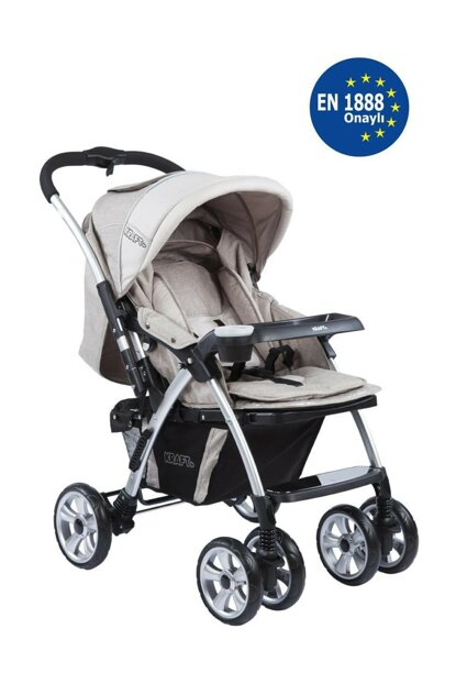 Evo Plus Two Way Baby Stroller Light Beige 353062-00031_R544